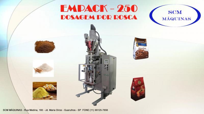 Empacotadora automática para grãos e pó